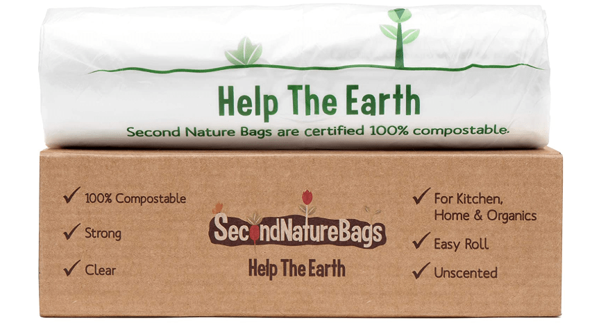 Second nature bags 3 gallon kitchen trash bags are perfect for kitchen scrap waste and pet litter